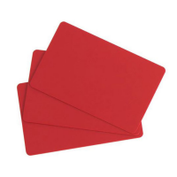 Evolis C4301 Red PVC Cards - Pack of 100