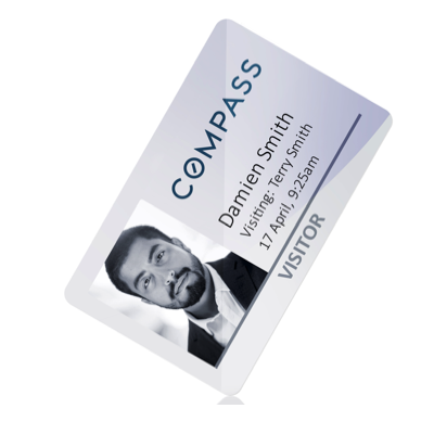 Re-Writable Plastic Visitor ID Cards