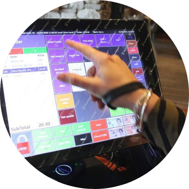 Touchscreens office reception