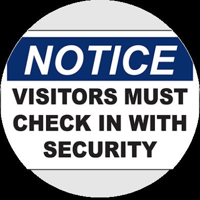 Visitor signage