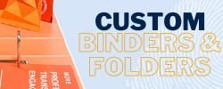 Custom printed ring binders folders