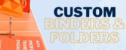Custom printed ring binders folders