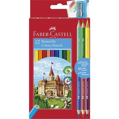 Eco Colour Pencils Box 12 With 3 Bio Colours Pencils + Sharpener