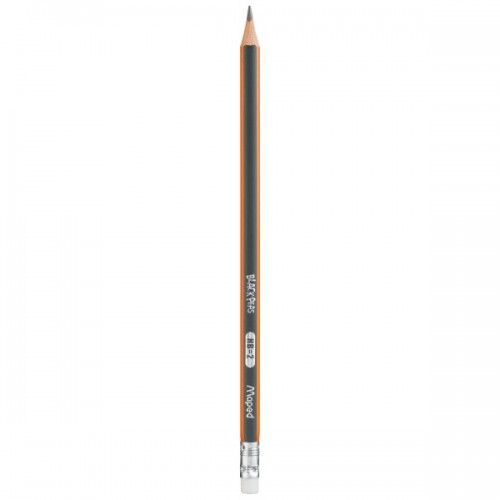 Maped Blackpeps Triangular Rubber Tipped Pencil - Hb