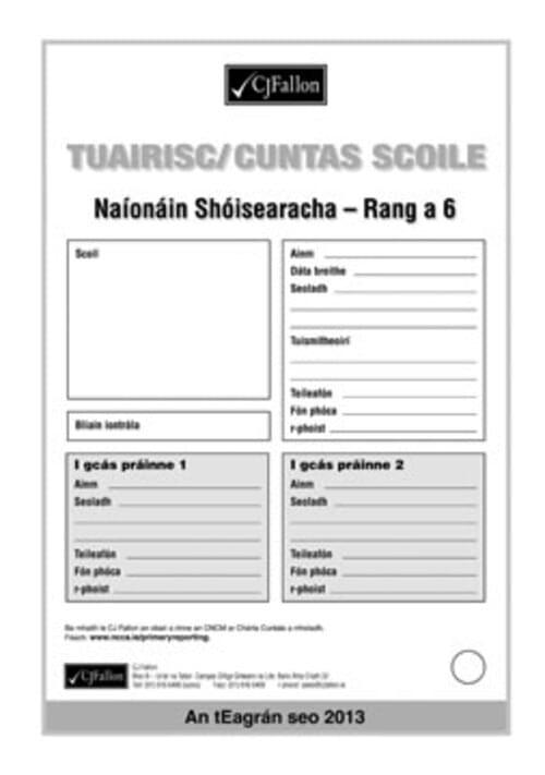 Fallons Tuairisc / Cuntas Scoile (2013 Revise