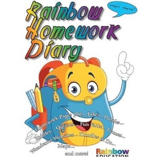 Rainbow Homework Diary A4