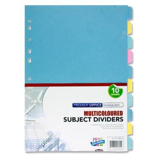 150Gsm Subject Dividers 10 Part