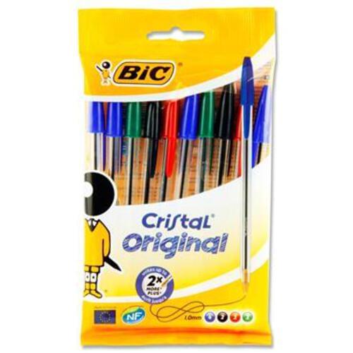 Bic Pkt.10 Cristal Ballpoint Pens - Original