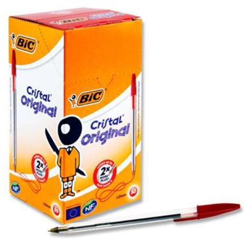 Bic Cristal Original Ballpoint Pens - Red