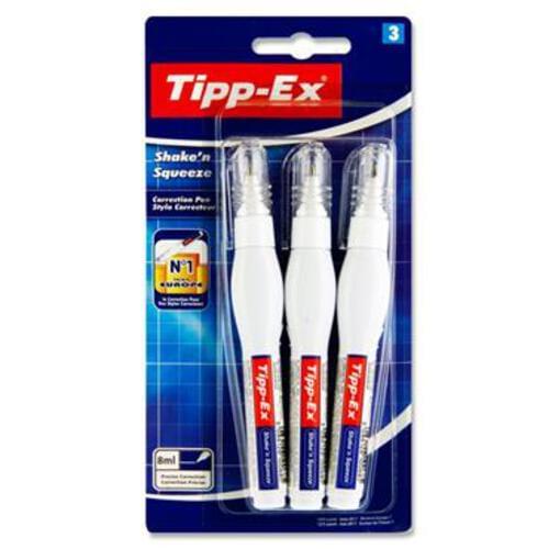 Tippex Card 3 8Ml Shake N Squeeze Pens