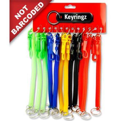 "Keyringz 8"" Spiral Keyring With Clip"