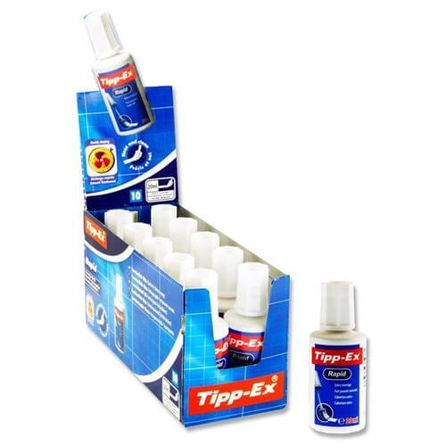Tippex 20ml Bottle Rapid Fluid - Sponge Cdu