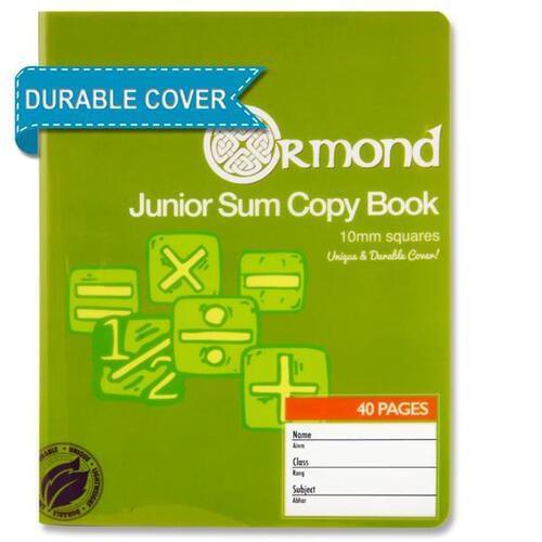 Ormond 40pg 10mm Sq Durable Cover Junior Sum Copy