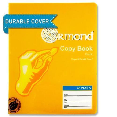 Ormond 40pg Durable Cover Blank Copy Book