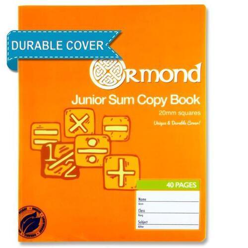 Ormond 40pg Durable Cover 20mm Sq Junior Sum Copy