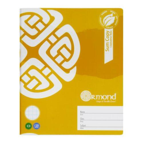 Ormond 120pg C3 Durable Cover Sum Copy Book