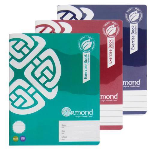 Ormond 120pg No.11 Durable Cover Copy Book - Bold 3 Asst.