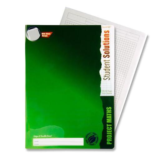 Student Solutions A4 120pg 5mm Sq Project Math Durable Cover Copy Book