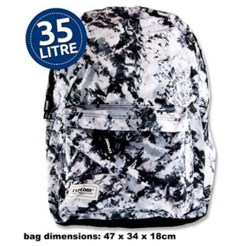 Explore 35Ltr Backpack - Black Abstract Full