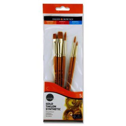 Daler Rowney Simply...5Pce Gold Taklon Brush Set