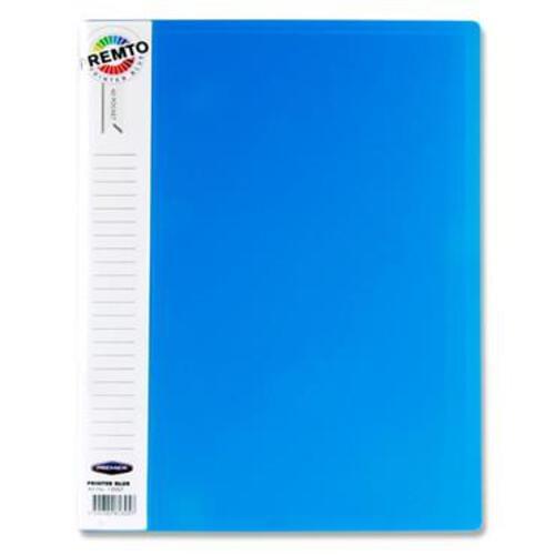 Premto A4 40 Pocket Display Book - Printer Blue