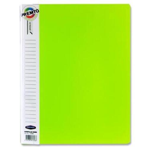 Premto A4 40 Pocket Display Book - Caterpillar Green