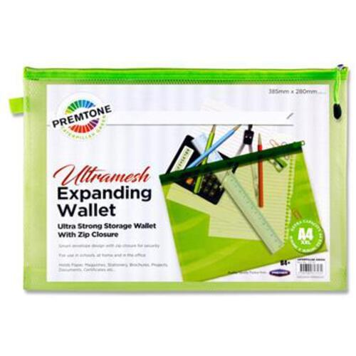 Premtone B4+ Ultramesh Expanding Wallet - Caterpillar Green