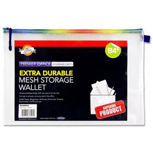 Premier Office B4+ Extra Durable Mesh Wallet - Rainbow