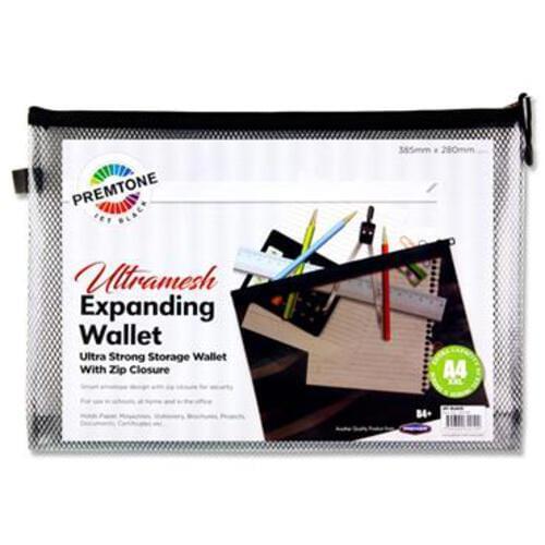 Premtone B4+ Ultramesh Expanding Wallet - Jet Black