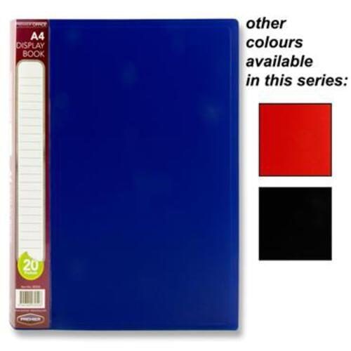 Premier Office A4 20 Pocket Display Book