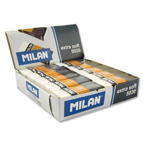 Milan 5020 Extra Soft White Eraser