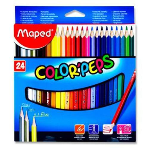 Maped Pkt.24 Colorpeps Triangular Colouring Pencils