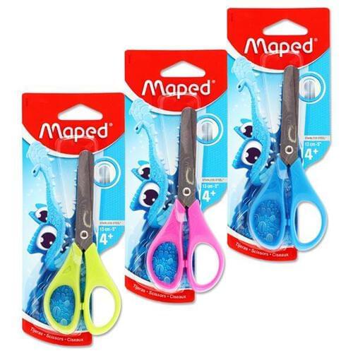 Maped Essentials 13cm/5Inch Scissors 3 Asst.