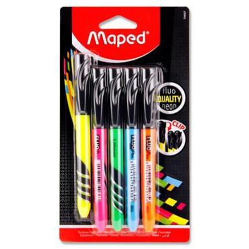 Maped Card 5 Fluopeps Highlighter Pens