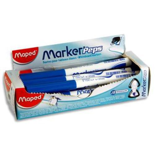 Maped Markerpeps Small Whiteboard Markers - Blue
