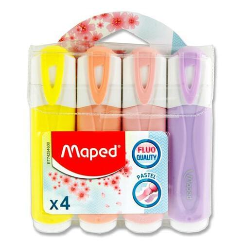 Maped Fluo'peps Pkt.4 Pastel Highlighters