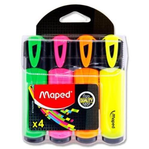 Maped Fluopeps Pkt.4 Highlighters
