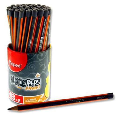 Maped Blackpeps Jumbo Triangular Pencil - Hb