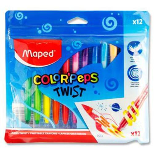 Maped Colorpeps Twist Pkt.12 Twistable Crayons