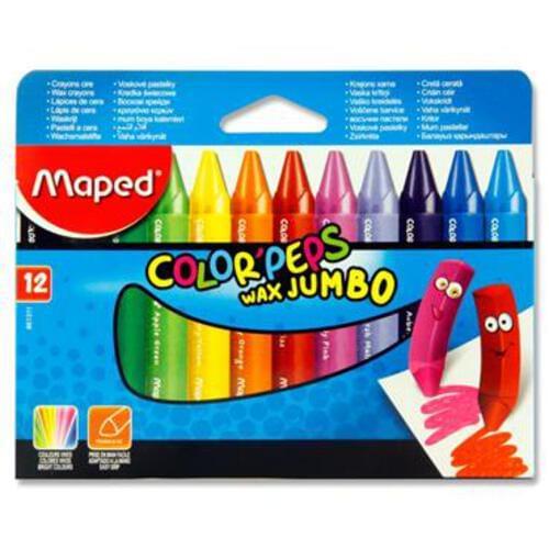 Maped Box 12 Colorpeps Wax Jumbo Crayons