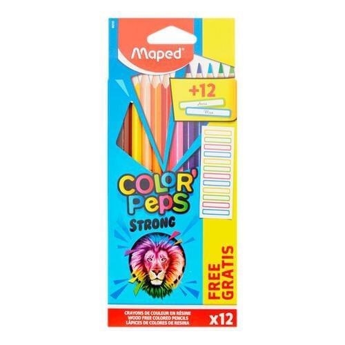 Maped Color'peps Pkt.12 Colouring Pencils & Labels