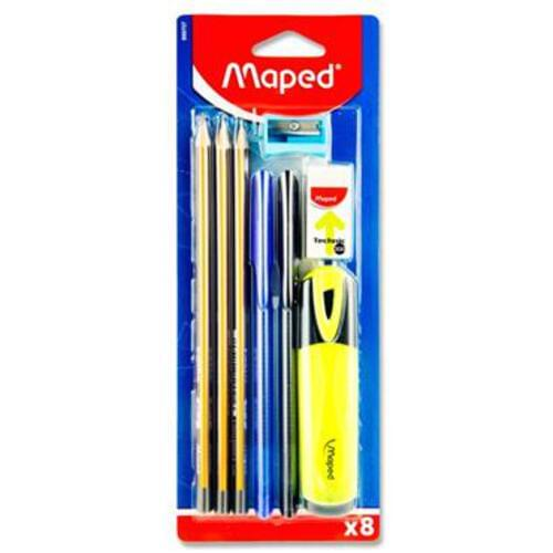 Maped 8Pce Carded Stationery Set