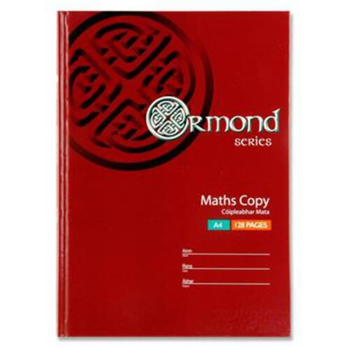 Ormond A4 128Pg Hardcover Maths Copy Book