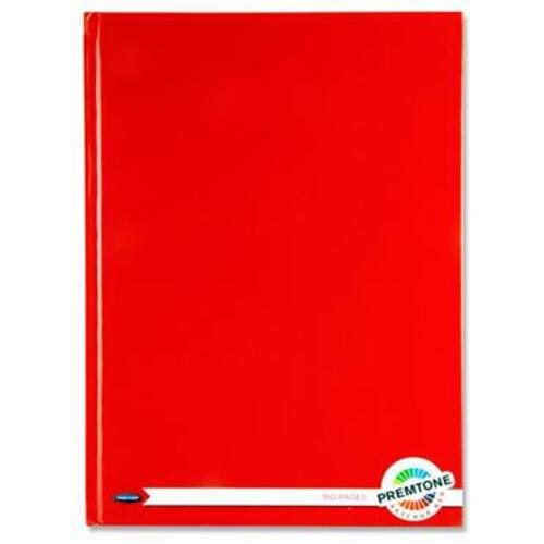 Premto A4 160Pg Hardcover Notebook - Ketchup Red