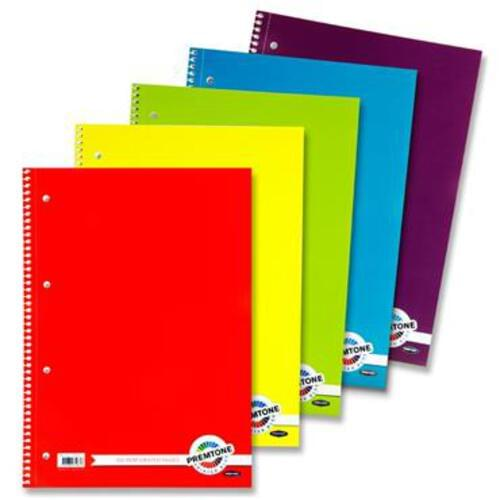 Premtone A4 160Pg Spiral Notebook
