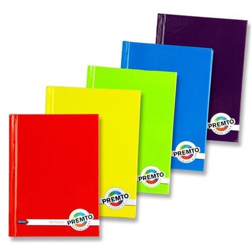 Premto A6 160pg Hardcover Notebooks S-1 5 Asst