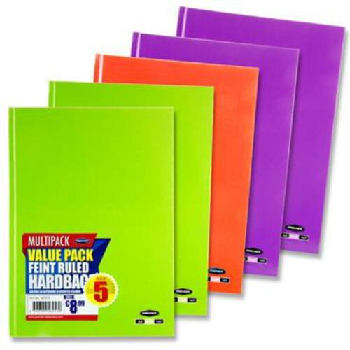 Premier Pkt.5 A4 160Pg Hardcover Notebook  Pastel