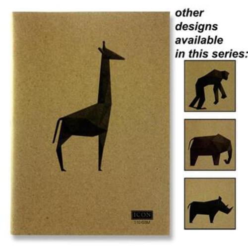Icon A4 80Pg 110Gsm Kraft Sketch Book Animalia Design