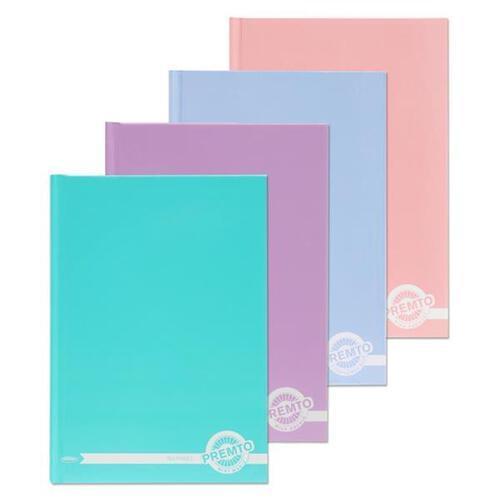 Premto Pastel A5 160pg Hardcover Notebook 4 Asst.