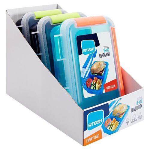 Smash Bento Leakproof Lunch Box 3 Asst Cdu